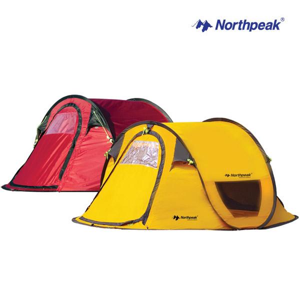 (Northpeak) 노스피크 4인용 스마트4 팝업텐트 (레드)/방염/자동텐트/오토/캠핑/낚시/그늘막/원터치/야외취침/원터치텐트